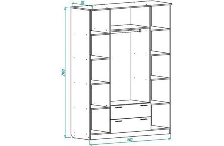 Изображение Шкаф ШР 4 с ящиками (В наличии) - 1