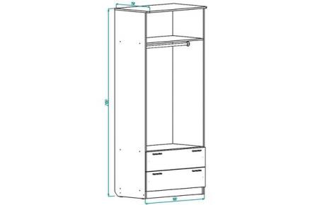 Изображение Шкаф ШР 2 с ящиками (В наличии) - 3