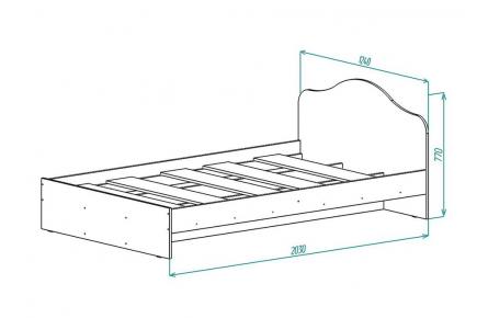 Изображение Кровать КР 2 (1200) (В наличии) - 1
