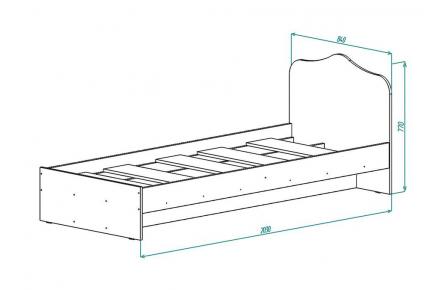 Изображение Кровать КР 2 (800) (В наличии) - 1