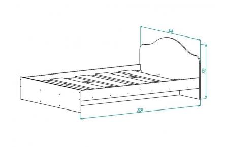 Изображение Кровать КР 2 (1400) (В наличии) - 1