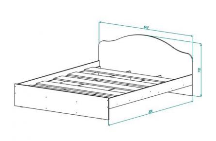 Изображение Кровать КР-2 УФ печать