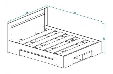 Изображение Кровать с ящиком КР-10