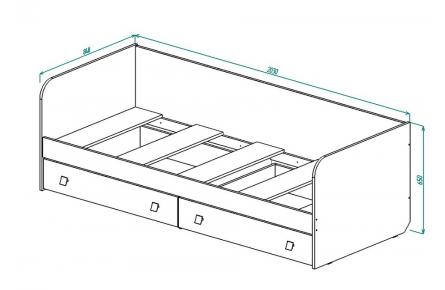 Изображение Кровать для детской КР-19
