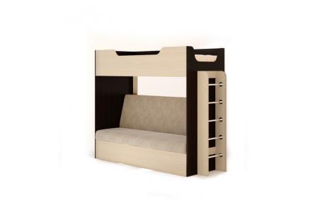 Изображение Кровать двухъярусная с диваном - 0