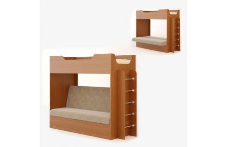 Изображение Кровать двухъярусная с диваном - 3