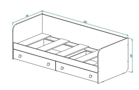 Изображение Кровать для детской КР-21