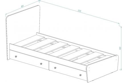 Изображение Кровать для детской КР-32