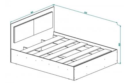 Изображение Кровать КР 15 (В Наличии) - 1
