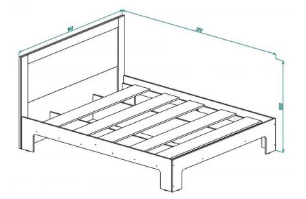 Изображение Кровать КР 14 (В Наличии) - 1