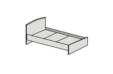 Изображение Кровать (0,9) КЭТ-1 АРТ.032 с низким щитом (В наличии) - 2