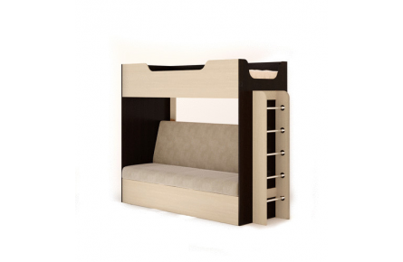 Изображение Кровать двухъярусная с диваном  - 4
