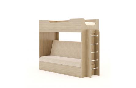Изображение Кровать двухъярусная с диваном  (В наличии) - 1