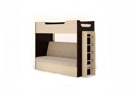 Изображение Кровать двухъярусная с диваном  (В наличии) - 2