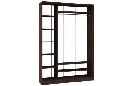 Изображение Шкаф 2 (AL) 1600х450 (Фасады зеркало) - 3