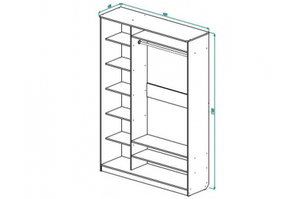 Изображение Шкаф 2 (AL) 1600х450 - 1