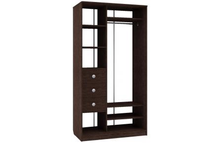 Изображение Шкаф 2 (AL) 1200х600 (Фасады зеркало) - 3