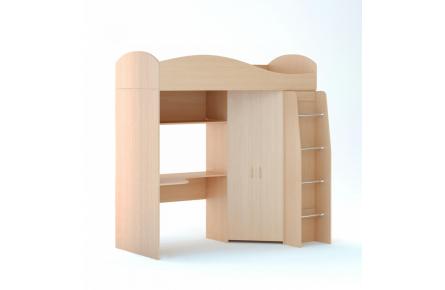 Изображение Кровать чердак (без матраца) (В наличии) - 2