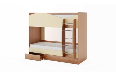 Изображение Кровать двухъярусная с ящиками (без матраца) (В наличии) - 1