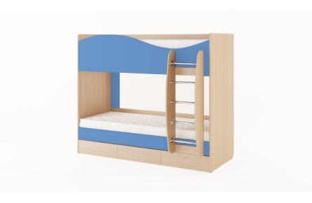 Изображение Кровать двухъярусная с ящиками (без матраца) (В наличии) - 2