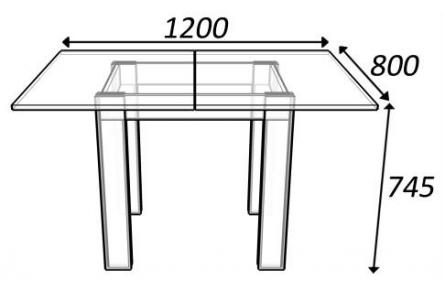 Изображение Стол поворотно-раскладной