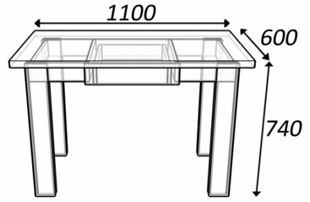 Изображение Стол с ящиком