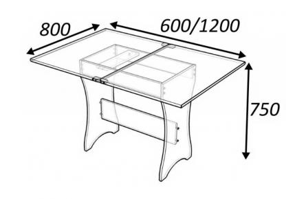 Изображение Стол поворотно-раскладной (В наличии) - 1