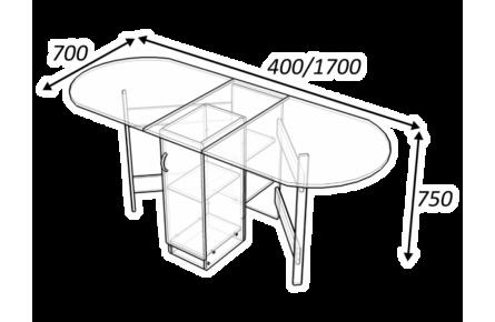 Изображение Стол тумба с дверью
