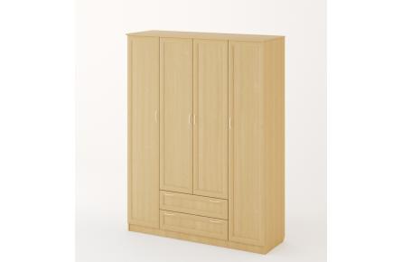 Изображение Шкаф распашной 4-х створчатый с 2 ящиками