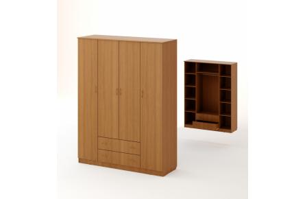 Изображение Шкаф распашной 4-х створч. с 2 ящиками (В наличии) - 0