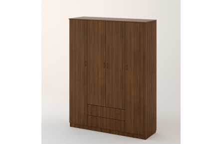 Изображение Шкаф распашной 4-х створч. с 2 ящиками (В наличии) - 1