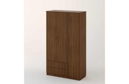 Изображение Шкаф распашной 3-х створчатый с 2 ящиками (В наличии) - 0