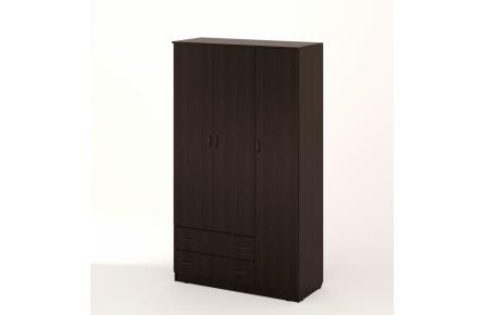 Изображение Шкаф распашной 3-х створчатый с 2 ящиками (В наличии) - 2