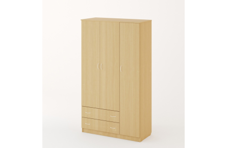 Изображение Шкаф распашной 3-х створчатый с 2 ящиками (В наличии) - 3