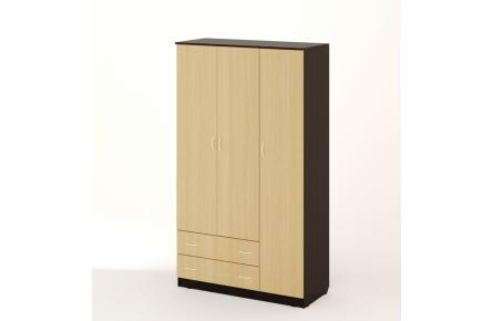 Изображение Шкаф распашной 3-х створчатый с 2 ящиками (В наличии) - 4