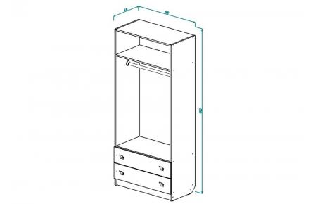 Изображение Шкаф для детской ЛДСП + УФ печать
